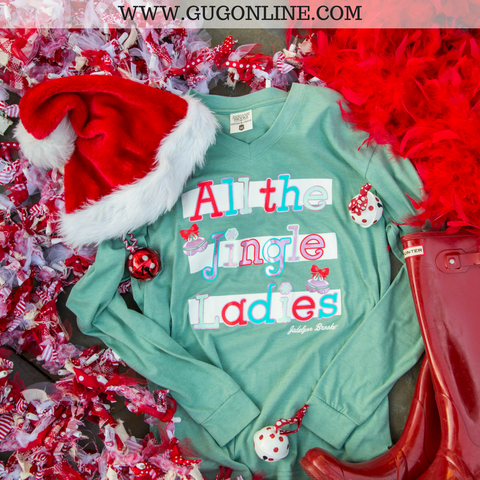 All The Jingle Ladies Long Sleeve Christmas Tee