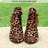 Stylish Heeled Ankle Boot Leopard Cheetah
