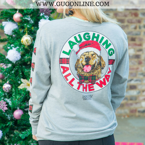 Laughing All The Way Long Sleeve Christmas Tee