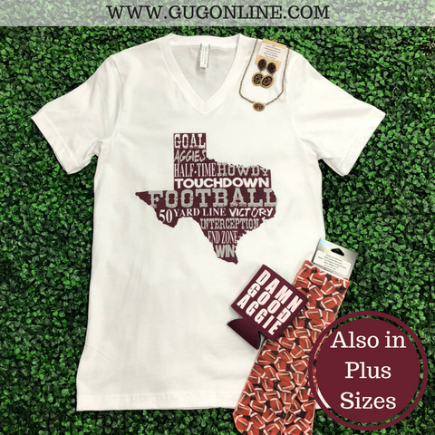 Aggie Football Short Sleeve Tee Shirt