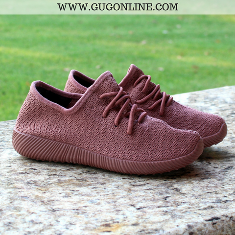 In The Running Tennis Shoes in Mauve - size 6 or 7 left!