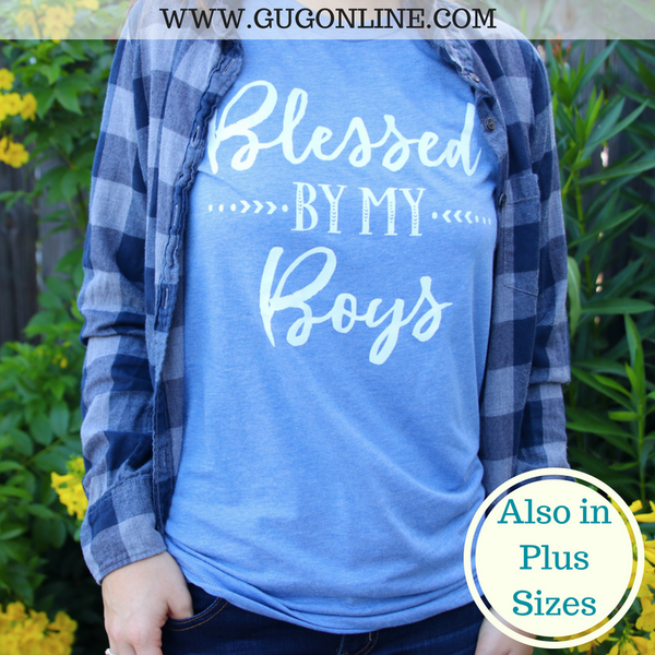 Blessed By My Boys Short Sleeve Tee Shirt