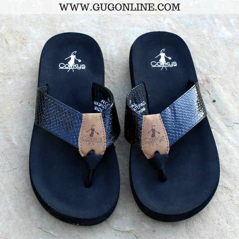 Royal Cushion Flip Flops in Black