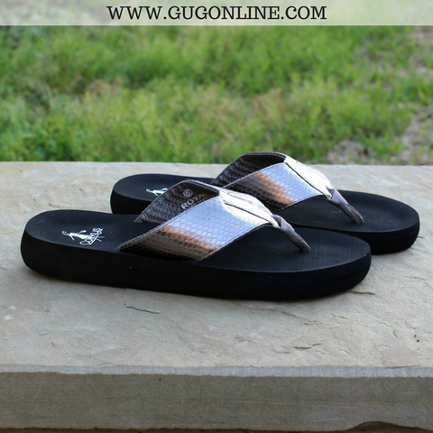 Royal Cushion Flip Flops in Pewter