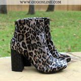 Not Rated Booties Short Ankle Boots Leopard