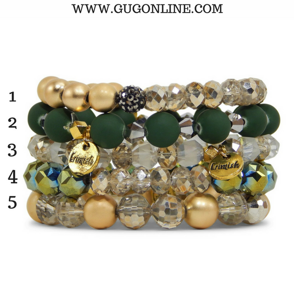 Stackable Crystal Bracelets - Wintergreen