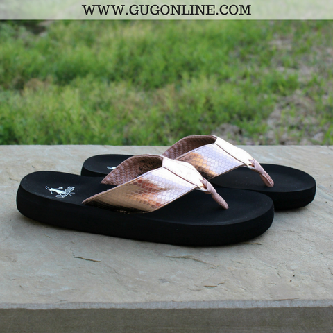 Royal Cushion Flip Flops in Rose Gold