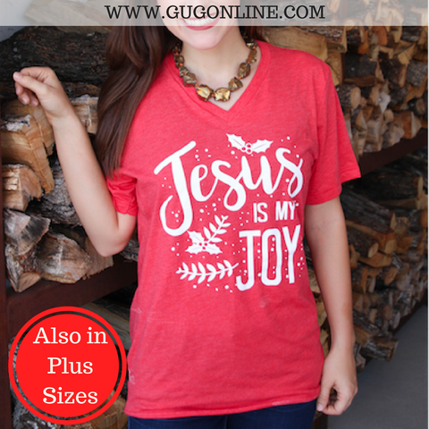 Jesus Is My Joy Short Sleeve Christmas Tee Shirt
