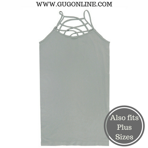 Crossing The Limits Strappy Camisole in Light Grey