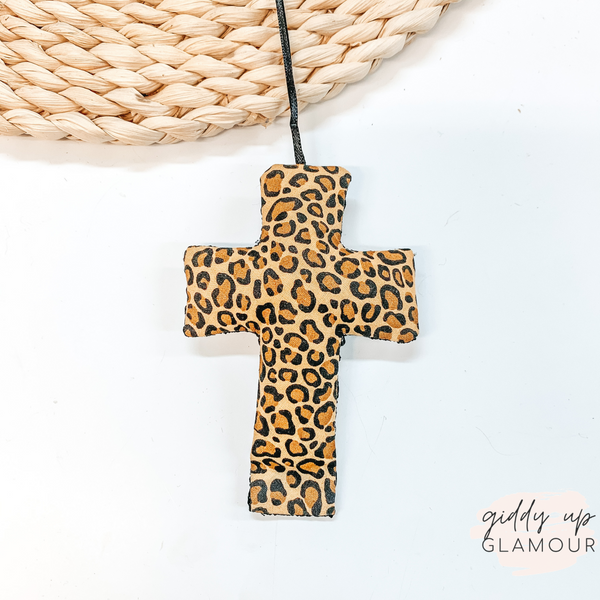 Leopard Print Cross Shaped Freshie in Butt Naked