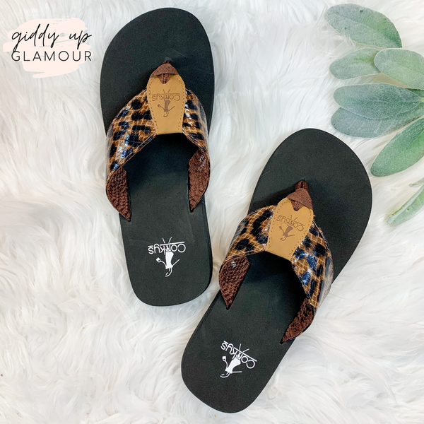 Corky's | Frances Cushion Flip Flops in Leopard