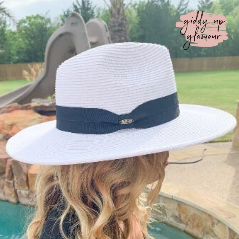 Throwing Shade Wide Brim Hat in Ivory