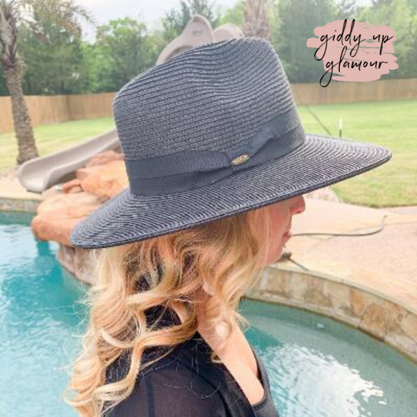 Throwing Shade Wide Brim Hat in Black