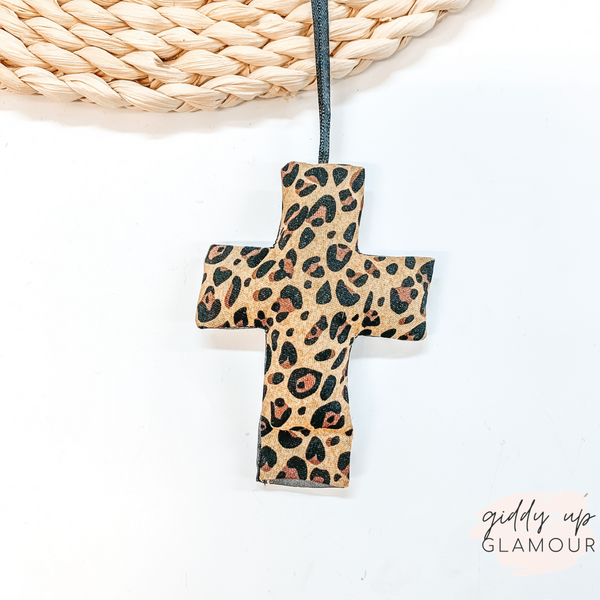 Leopard Print Cross Shaped Freshie in Monkey Farts