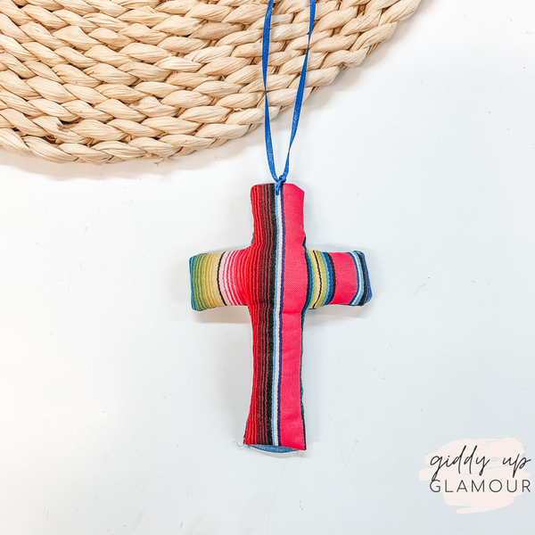 Serape Print Cross Shaped Freshie in Fierce