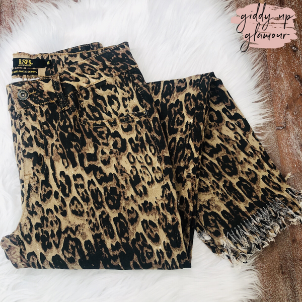 L&B |  Living On the Edge Ankle Crop Skinny Jeans in Leopard