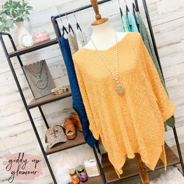 With All My Heart Oversized Knit Sweater in Honey Yellow