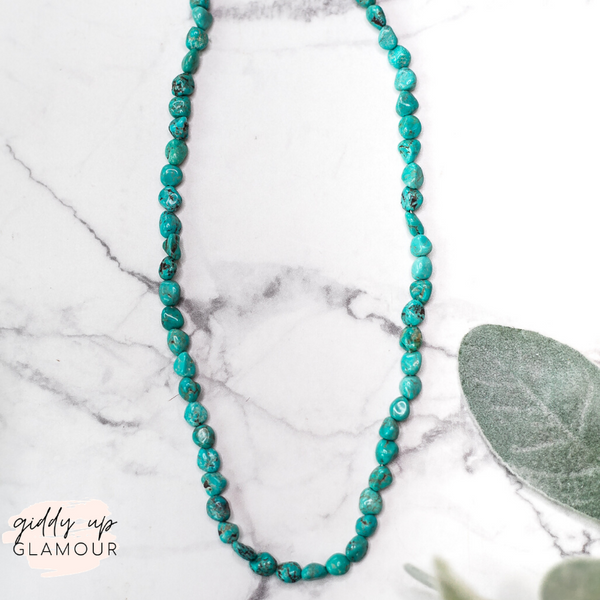 Navajo | Genuine Turquoise Chip Necklace | 17 inches
