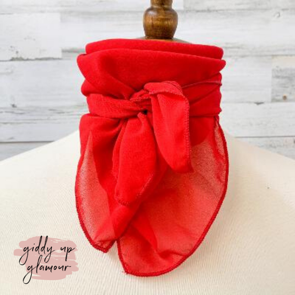 Timeless Approach Sheer Scarf in Red