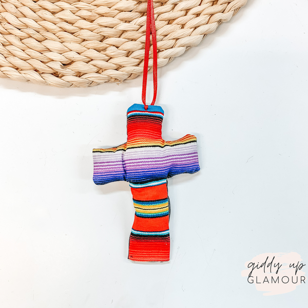Serape Print Cross Shaped Freshie in Butt Naked