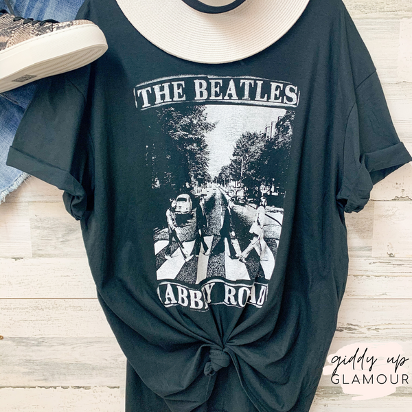 THE BEATLES | Abbey Road Graphic Tee in Black