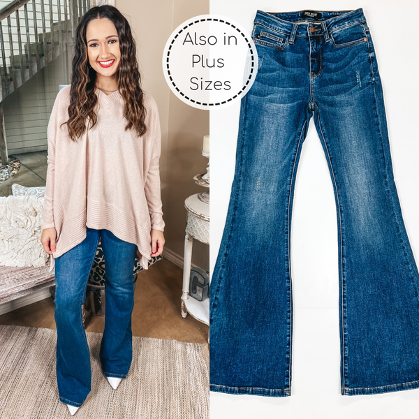Judy Blue | Higher Dreams High Rise Flare Jeans in Medium Wash