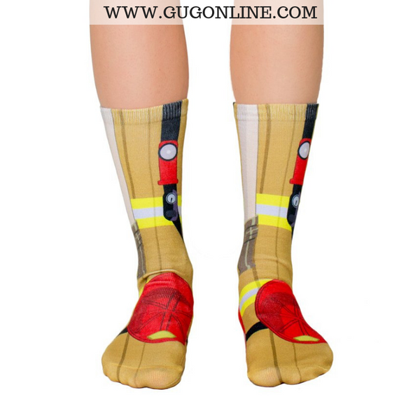 Funny Socks | Fun Socks Fireman Fire Fighter