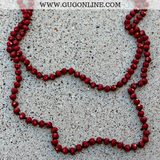 Crystal Strand Necklaces Maroon