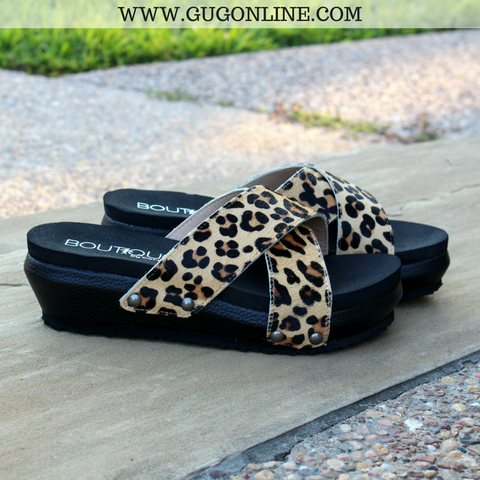 Never Change Your Spots Leopard Sandals