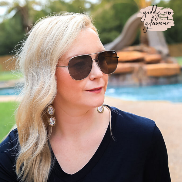 Quay | Living Large Aviator Sunglasses in Brown