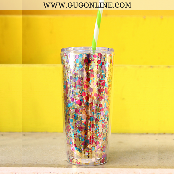 Confetti Party Tumbler Cup - 20 oz