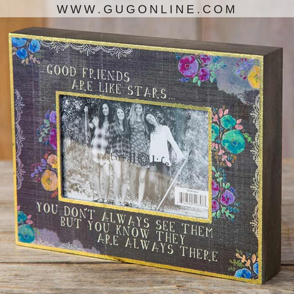 Natural Life | Good Friends Floral Picture Frame with Gold Foil Trim