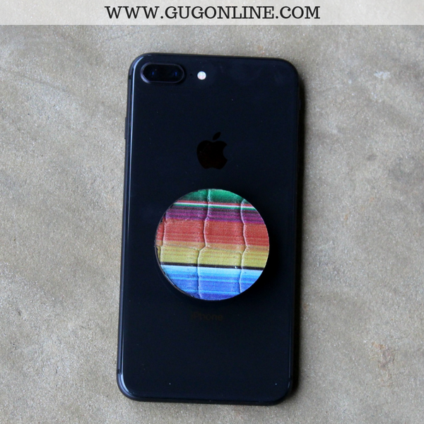 Leather Serape Print Phone Grip
