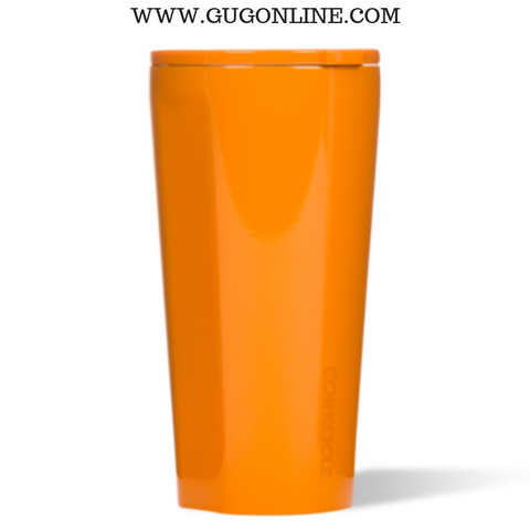 Dipped Clementine Orange Corkcicle Tumbler Cup - 16 oz