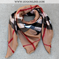 9f7d7ac1360 Burberry Plaid Blanket Scarf in Camel