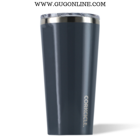 Gloss Navy Corkcicle Tumbler Cup - 16 oz