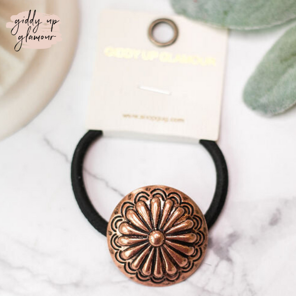 Copper Concho Hair Tie