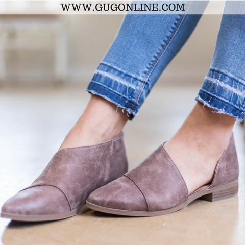 Side Slit Flat Booties in Nutmeg