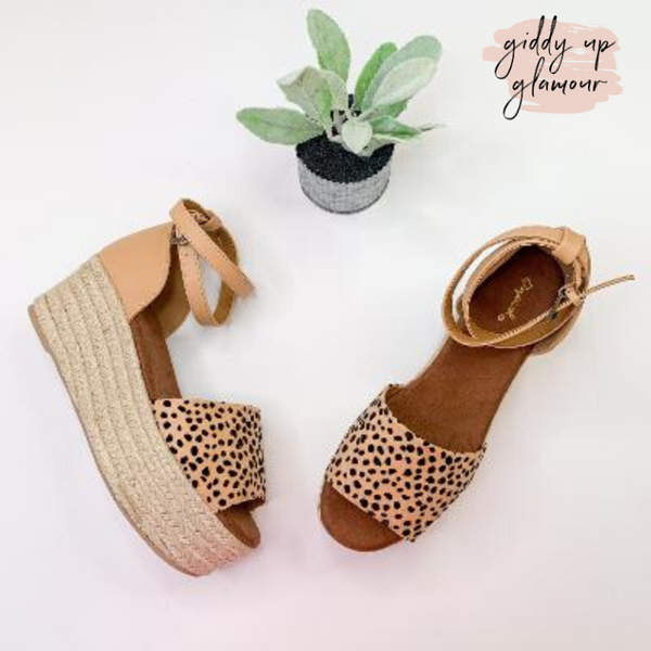 Stroll With It Espadrille Platform Sandal in Leopard