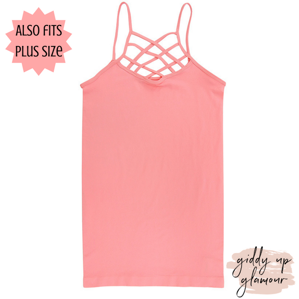 Crossing The Limits Strappy Camisole in Pink