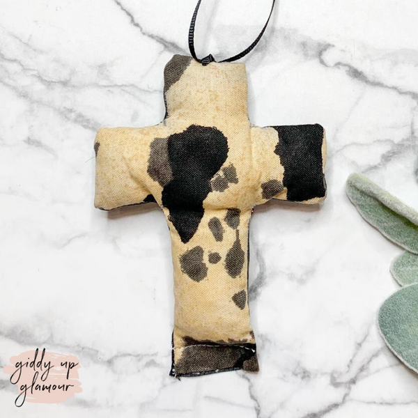 Cow Print Cross Freshie - Leather and Lace