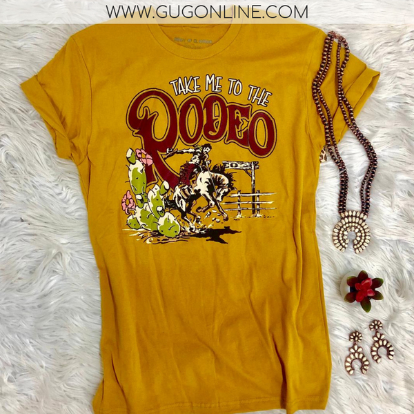 Seconds & Samples | Take Me To The Rodeo Vintage Western Short Sleeve Tee Shirt | Size Small