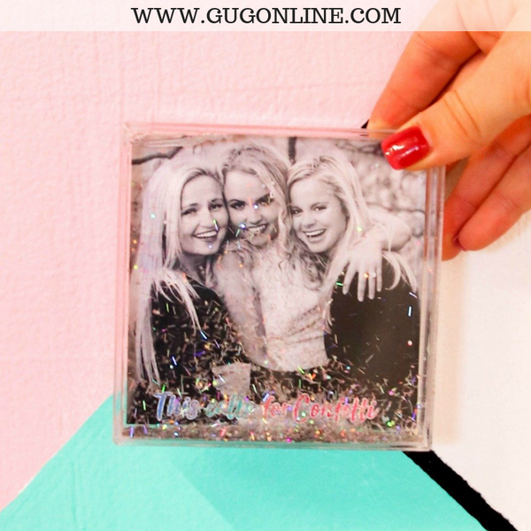 Floating Glitter Picture Frame