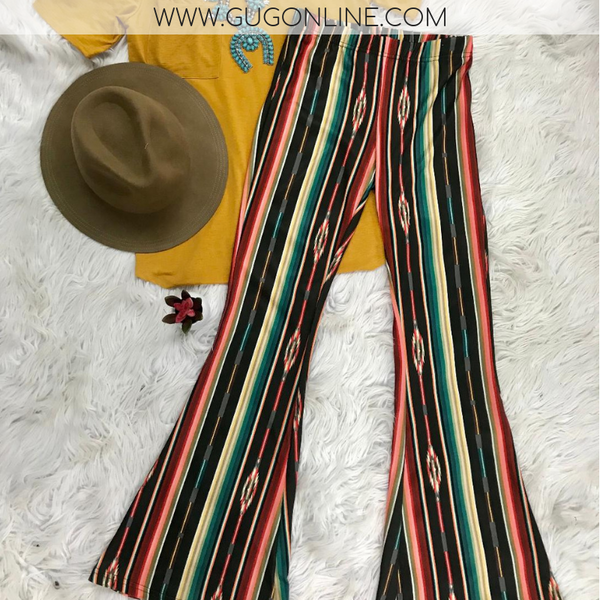 Tequila Nights Serape Bell Bottom Pants