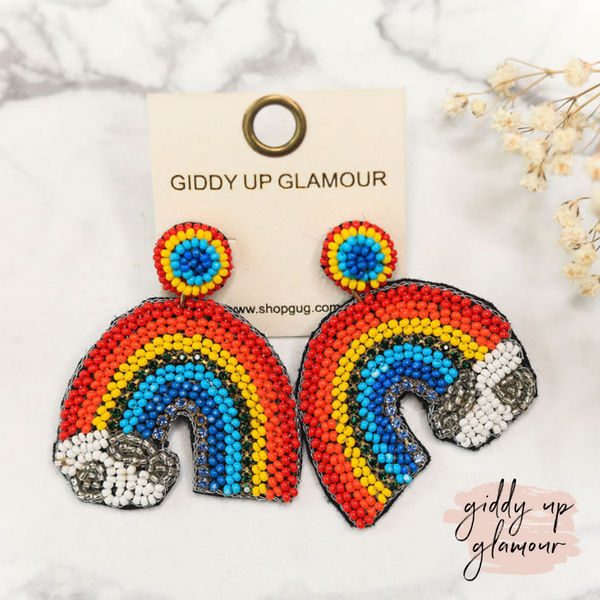 Over the Rainbow Beaded Earrings