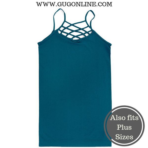 Crossing The Limits Strappy Camisole in Teal