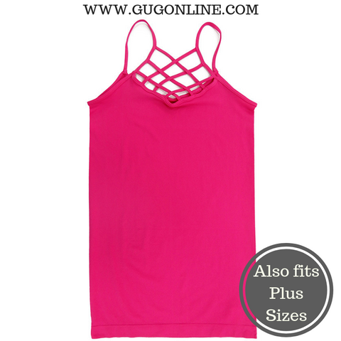 Crossing The Limits Strappy Camisole in Hot Pink