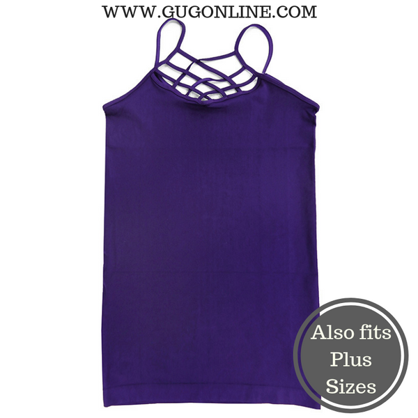 Crossing The Limits Strappy Camisole in Purple