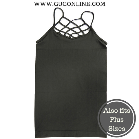 Crossing The Limits Strappy Camisole in Charcoal Grey