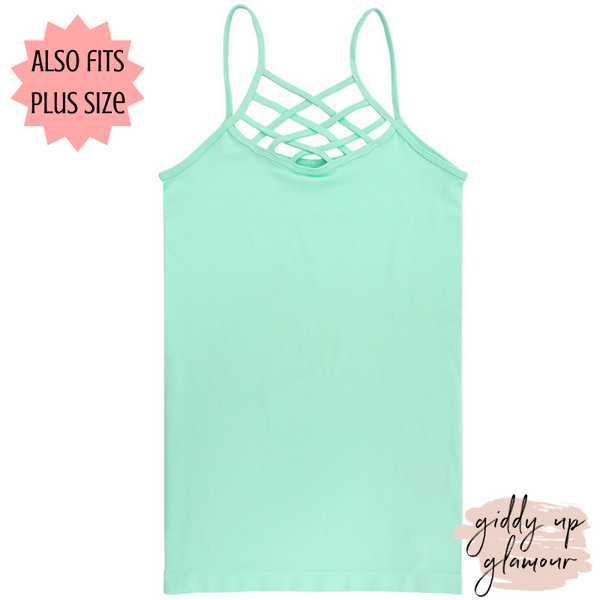 Crossing The Limits Strappy Camisole in Mint